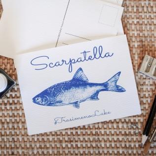 handmade cyanotype postcard
